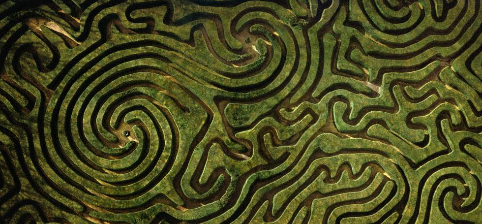 jardines laberinto del Longleat en Wiltshire, Inglaterra.