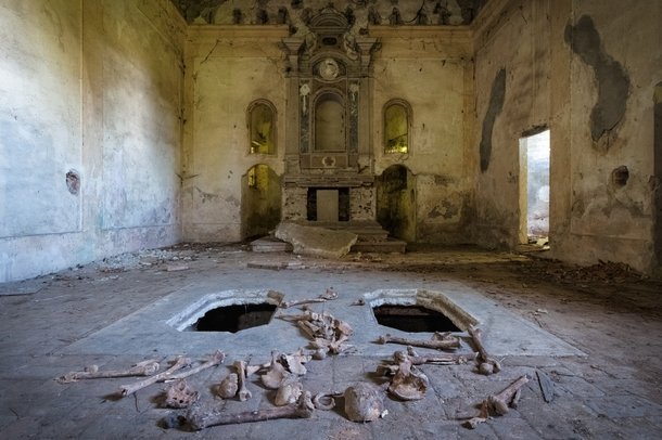 abandoned-church-with-bones-displayed-from-crypt-below--70650